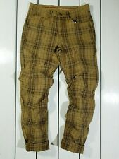 New Conte of Florence Men's Pants Size 50 / W33 Brown Mustard Plaids&Cheeks