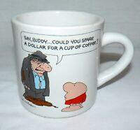 Tom Wilson Ziggy 8 oz. Ceramic Spare a Dollar Mug Cup 1984 Comics