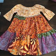 Matilda Jane Peasant Dress Patchwork Size 6 Art Fair Platinum