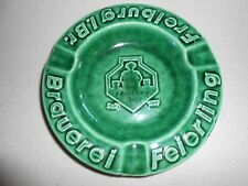 Vintage Collectible Feierling Bier Brauerei Freiburg Beer Glass Ashtray Brewery