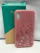 For iPhone Xs 5.8 i-Blason Cosmo Sparkle Bumper Case Cover+Screen Protector PINK