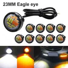 10PCS 4014 12 LED Eagle Eye Amber & White Switchback Lamp Daytime Running Light