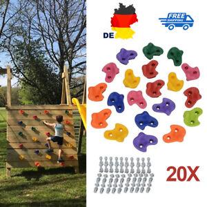 20Stück Mehrfarbige Kinder Klettergriffe Klettersteine für Kletterwand belastbar