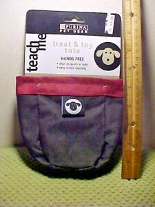Purina Dog Pet Toy & Treat Tote with Belt Hook with  Zipper for scoop bags