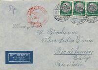Nr 19864 Luftpost Brief Deutsches Reich Zeppelin Südamerika Fahrt - Brasilien 1