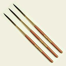 Mack Wizard Typhoon Kazan Squirrel Hair Pinstriping Brush Set of 3, Sizes #0-#2