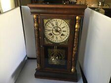 ANTIQUE COLUMBUS / DAVIS CLOCK COMPANY SHELF / MANTEL CALENDAR CLOCK 1880