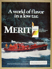 1984 Duke of Cornwall RNLI Lifeboat photo Merit Cigarettes vintage print Ad