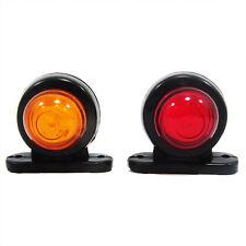 2x Indicador SMD LED Intermitente Naranja Rojo Para Camión Remolque 12V/24V