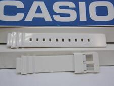 Casio Watch Band LRW-200 White Polished Rubber. 14mm Ladies White Sport Strap