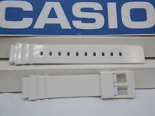 Casio Watch Band LRW-200 White Polished Rubber. 14mm Ladies White Sport Strap