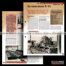 #vm050.05 ★ CHAR T-15 (T15) BELGIQUE 1939-1940 WW2 ★ Fiche Véhicule Militaire