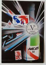 J2* Carte Premier Jour FDC 1998 +timbre n°3195 (La Constitution) Cachet Reims