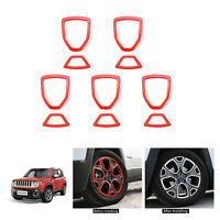10x Red Tire Wheel Hub Cover Trim Frame Sticker For Jeep Renegade 1.4 2016-2019