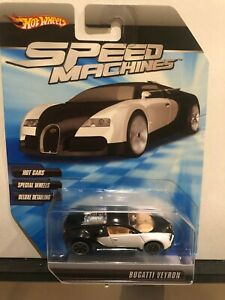 1/64 HOT WHEELS SPEED MACHINES BUGATTI VEYRON BLACK & WHITE