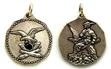 Medaglia Alpini Metallo Argentato E Smalto, Diametro cm 3 Peso g 12,9