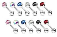 12PC 16G Mix CZ  Surgical Steel Helix Tragus Daith Ear Cartilage Ring Barbell