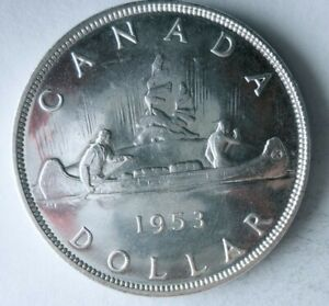 1953 CANADA DOLLAR - AU/UNC - Great Silver Coin - Lot #M2