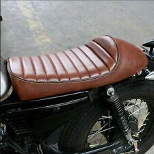 Cafe Racer Motorrad Sitzbank Braun Sattel Sitz Kissen für Honda Yamaha 53x25cm