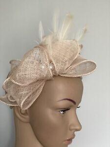 NEW Beige Nude Headband Fascinator Wedding Ladies Race Day fashion Accessories