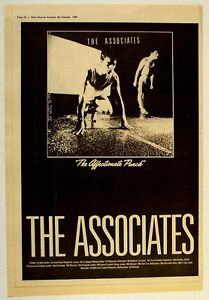 THE ASSOCIATES 1980 POSTER ADVERT THE AFFECTIONATE PUNCH