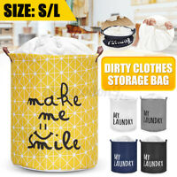 Household Dirty Clothes Foldable Hamper Storage Bag Laundry Basket Washing Home