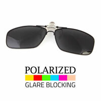 Polarized Flip Up Metal Clip On Sunglasses 100% UV 400 Protection Fishing Men