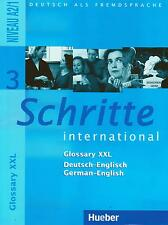 Hueber SCHRITTE INTERNATIONAL 3 Glossary XXL A2/1 Deutsch /German - English @NEW