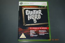 Guitar Hero 5 Xbox 360 UK PAL **FREE UK POSTAGE**