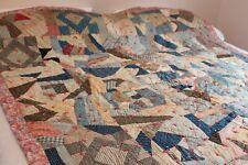 Vintage Cotton Hand Stitched Heavy Quilt 66x82