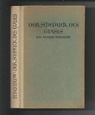 Der Schmuck des Glases Heinrich Strehblow 1920 Fachb. Glasmacher Glasveredelung
