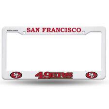 License Plate Frame Vehicle  Plastic  White NFL  San Francisco 49ers Rico new