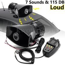 12V 115db Loud Air Horn Siren for Car Boat Van Truck 7 Sounds PA System + Mic