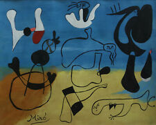 Rare & Unique original tempera, painting, signed Joan Miro, w COA, docs.