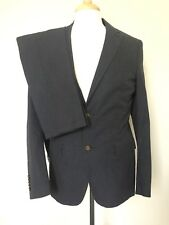 NEW SUITSUPPLY Pure Cotton Micro Houndstooth Suit 38R