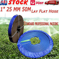 1 Inch 25mm PVC 50m Layflat Hose Water Pump Transfer Lay Flat  Outlet Discharge