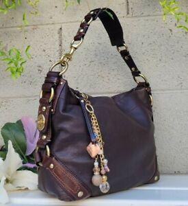 Coach vintage CARLY 10615 smooth Leather Hobo Shoulder Handbag Purse Brown bag