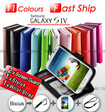 Glossy Mobile Phone Flip Cases for Samsung Galaxy S4
