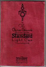 Standard 11HP Light Car 1924-25 1307cc Original Owner Driver's Guide (Handbook)