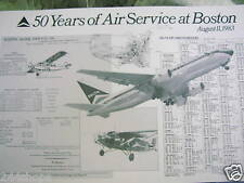 DELTA AIR LINES - 50 YEARS OF SERVICE TO BOSTON small POSTER 11 X 17