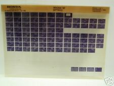 Microfiche Honda Motorcycle Fiche for 1987 VF700C Magna