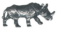 4 wholesale lead free pewter rhino figurines E5021