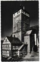 Ansichtskarte Bischofsheim - oberer Markt - Weinstube Cafe Keller - schwarz/weiß