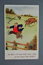 R&L Postcard: J Salmon Comic 3120 Raging Bull, Hero Facing Death