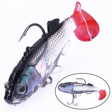 Silicone Soft Lures Worm Fishing Baits Bass Trout Shad Bait Hot