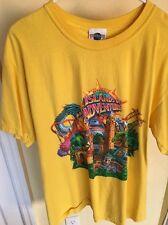 Universal Island of adventure Men Short Leeves Shirt , Yellow , Excellent Cond.