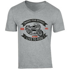 DUCATI 900 MIKE HAILWOOD 1 - NEW COTTON GREY V-NECK TSHIRT