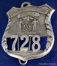 OBSOLETE, VINTAGE NEW YORK CITY TRANSIT AUTHORITY POLICE BADGE (OLD STYLE)