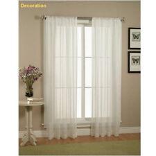 2pcs Transparent Fenêtre Élégance Rideaux Rideau Panneaux Traitement