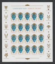 2020 Us Chinese Lunar New Year of the Rat Forever Stamps Scott 5428 Panes of 20